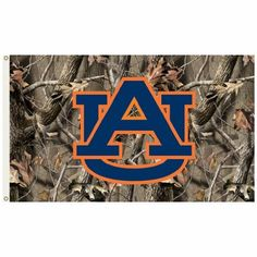 Auburn Tigers 3 Ft. X 5 Ft. Flag W/Grommets - Realtree Camo Background
