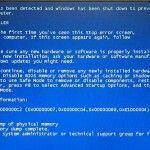 Blauw scherm