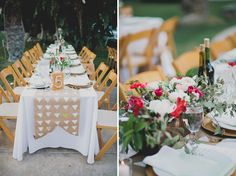 stamped table runners {kraft or fabric}