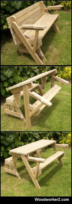 Plans on http://www.woodworkerz.com/folding-bench-and-picnic-table-combo-2/