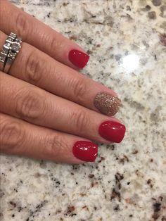 Revel nail dip powder feisty marilyn manicures in christmas colors Revel Nail Dip Powder, Powder Nails, Christmas Nail Art, Holiday Nails, Christmas Colors, Nail Manicure, Manicures, Nail Polish, Nail Gel