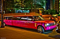 Hot Pink Range Rover Stretch Limo Cruises Chicago by KSWest, via Flickr