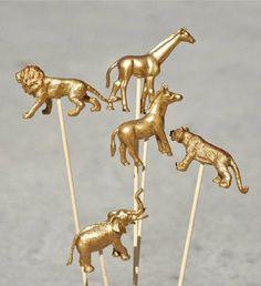 DIY gold animal drink stirrers!