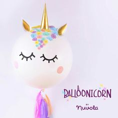 The perfect balloonicorn for a perfect ballon party 🎈 Unicorn Themed Birthday Party, Unicorn Birthday Parties, First Birthday Parties, Birthday Party Themes, Fiesta Little Pony, Little Pony Party, Unicorn Pinata, Unicorn Balloon, Unicorn Puke