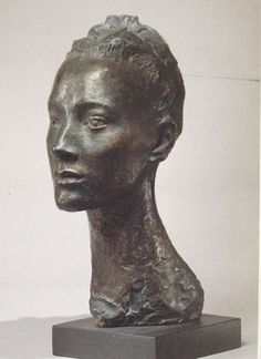 Germaine Richier La Regodias Germaine Richier (France knew Giacometti and Bourdelle and used a lot of animal symbols in her work. But this is one of her early portraits. The subject is a professional model called Renee Regodias. (The Guardian) Portrait Sculpture, Sculpture Head, Louise Nevelson, Lion Love, Animal Symbolism, Art Graphique, Life Drawing, Inspiration, Pictures