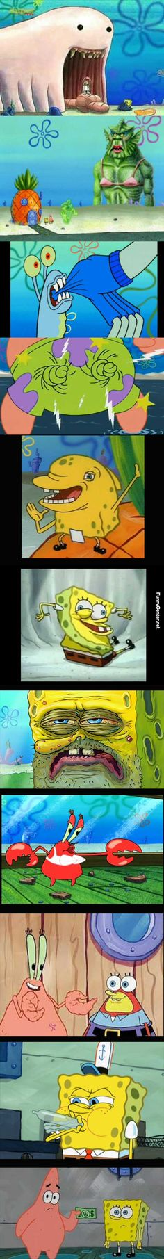 Scenes From SpongeBob Looks Weird Without Context. They look weird even in context
