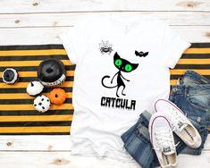 Items similar to Creepy Cute Halloween Shirt, Unisex Tee, Black Cat, Monster Catcula, Xs Brown Orange Vampurr on Etsy Halloween Season, Cute Halloween, Halloween Shirt, Make Yourself Halloween Costumes, Creepy Cute, Dracula, Cool T Shirts, Funny Tshirts, T Shirts For Women