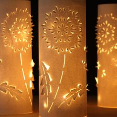 Make these stunning Dandelion paper lanterns with up-cycled plastic bottles and paper! Free printable download in this easy and fun paper craft tutorial! | A Piece Of Rainbow