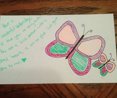 Today's note was a quick one but still a cute mommy and baby butterfly. Have a wonderful Wednesday!  #lunchnotes #lunchboxnotes #lunchboxlove #mamalove #butterfly #momandbaby by theharned5