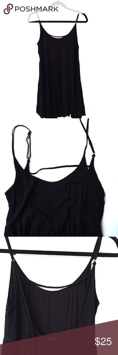 "Brandy Melville Black Dress One Size Fits All Perfect condition! The dress is one size fits all, but I would call it a size Medium. Chest 15"" / Length 30"" (First pic is a stock photo to show fit) Brandy Melville Dresses Mini"