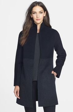 Eileen Fisher High Collar Double Face Wool Blend Coat (Regular & Petite) available at #Nordstrom