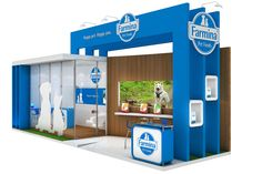 Projeto Farmina on Behance Kiosk Design, Display Design, Store Design, Exhibition Stall, Exhibition Booth Design, Exhibit Design, Ceiling Hanging, Show Booth, Pop Design