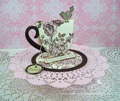 Tea Cup Easel Card