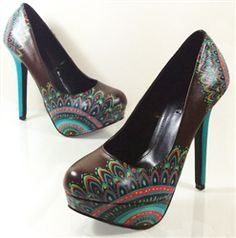 Turkish Delight - hand painted shoes by Hourglass Footwear. They even do custom orders and bridal shoes!