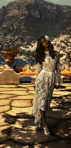 Il San Pietro Hotel Positano Amalfi  Coast / Mariana Braga in La Dolce Vita Dress
