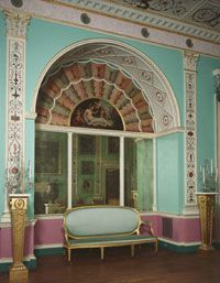 Drawing Room from Lansdowne House  c. 1766-75  Designed by Robert Adam, Scottish, 1728 - 1792. Painted decoration by Giovanni Battista Cipriani, Italian (active Florence and England), 1727 - 1785, and Antonio Zucchi, Italian, 1726 - 1795. Gilded by Joseph Perfetti, Italian, active London from 1760 - 1778.