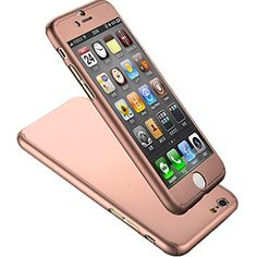 "nice Iphone six Case, Coocolor] Extremely Slim Whole Human body Coverage Protection Tough Slim Iphone six Case with Tempered Glass Monitor Protector for Apple Iphone six four.seven"" (Rose Gold)"