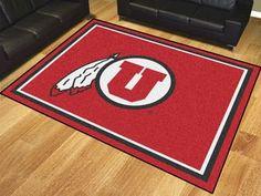 University of Utah 8x10 Rug