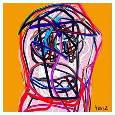 Worried Too Much by Sam Freek - #art #abstract #digitalpainting