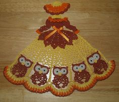 4 Crochet Doily Girl Pattern Lot Owls Roses Sunflowers and