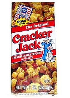 Cracker Jacks - and digging to the bottom of the box to see what your prize was.