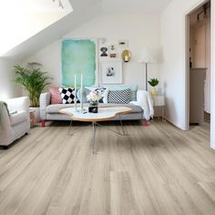 Aqua Plank Pale Oak Light Click Vinyl Flooring