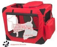 Small Deluxe Soft Dog Crate, Generation II - Red Poppy