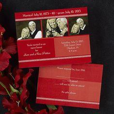 Potential invitation idea for Mom & Dad's 40th anniversary party
