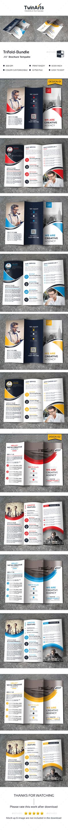 Download 2 in 1 Creative Tri-Fold Brochure Bundle Free Download - free printable tri fold brochure templates