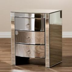 Lowest price online on Baxton Studio Florence Hollywood Regency Glamour Style Mirrored Nightstand Nebraska Furniture Mart, Mirror 3, Star Wars, Baxton Studio, Drawer Fronts, Hollywood Regency, Beautiful Bedrooms, Drawers, Florence