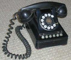 TelephoneBlack Rotary Phone  Ebay   One RingyDingy
