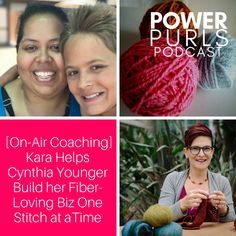 [On-Air Coaching] In this episode of Power Purls Podcast, Kara helps Cynthia Younger tackle some of the struggles she's facing as she builds her service-based business helping women practice self-care through knitting and crochet.http://www.powerpurlspodcast.com/fiber-loving-business/?utm_campaign=coschedule&utm_source=pinterest&utm_medium=Kara&utm_content=How%20to%20Build%20a%20Fiber-Loving%20Business%20One%20Stitch%20at%20a%20Time