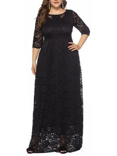25b3bb157cb Eternatastic Womens Floral Lace Sleeves Maxi Dress Plus Size Evening Party  Dress