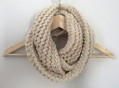 Infinity scarf - Cowl - Snood -Circle scarf -  Knitted by TheScarfRoom on Etsy