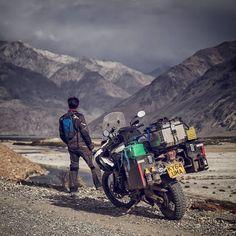 Triumph Tiger 800 XCX. Beautiful Nature of Tajikistan Afghanistan. Wakhan valley. Motorcycle Adventure Travel Rider. VISORHEAD.