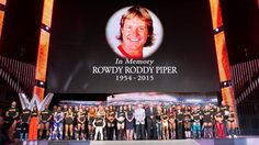 """The entire WWE roster honors WWE Hall of Famer """"Rowdy"""" Roddy Piper: photos 