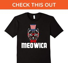 Mens Funny Meowica Freedom Cat T-Shirt - 4th of July Shirt 3XL Black - Holiday and seasonal shirts (*Amazon Partner-Link)