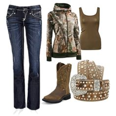 Not a fan of the jeans, but I would wear the belt and boots!!! :-D