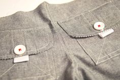Cargo Pocket Inspiration. Boys or Girls. Really adorable high end look. . Shows sewing tips for pockets.
