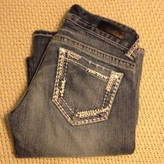 Day trip boot cut denim Purchased from buckle! These are in perfect condition! I bought these at the same time as other pair of day trip jeans I have for sell, right before I found out I was pregnant and they haven't fit since!! Bundle with other day trip jeans for an amazing deal! Also have a day trip shirt in closet! Daytrip Jeans Boot Cut