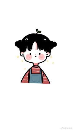 Kawaii Girl Drawings, Cartoon Girl Drawing, Kawaii Art, Cute Drawings, Girl Cartoon, Cartoon Drawings, Cute Panda Wallpaper, Cute Pastel Wallpaper, Cute Wallpaper Backgrounds