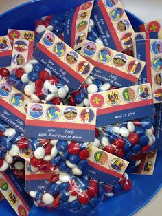 The Candy favors came out great! The merit badge design was truly inspired.