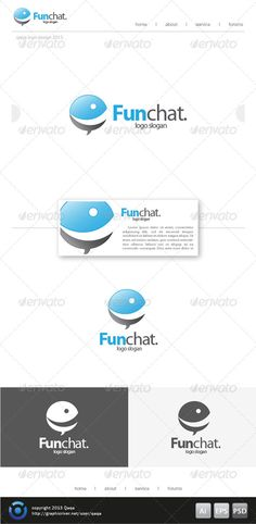 Fun Bubble Chat Logo  #GraphicRiver         Fun Chat Logo is 100% editable and resizeable vectors! suitable for clubs, chating, social or other related. Well organized file, All colors and text can be modified, read the instruction readme.pdf  Font:  .fontpalace /font-download/MyriadPro-Bold/  Colour: CMYK  Files: .ai / .eps / .psd / Readme.pdf  Size: Resizeable  Contact me if you need any help and would be appreciate if you may rate this item..   Cheers!     Created: 21November13…