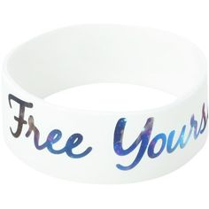 Free Yourself Galaxy Rubber Bracelet | Hot Topic (100 BRL) ❤ liked on Polyvore featuring jewelry, bracelets, accessories, 26. bracelets & watches., 27. bracelets & watches., rubber bangles, rubber jewelry, cosmic jewelry, bracelet bangle and white jewelry