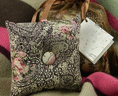 Handmade scented cushions by Virginia's Artisan Soap.  Made with Pure Essential Oils.