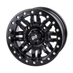 4//137 STI HD5 Beadlock Wheel 14x7 5.0 2.0 Machined//Black for Can-Am Commander E XT 2015