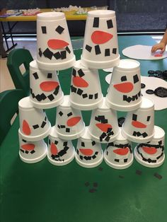 Snowman cups with al