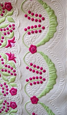 Lily Rosenberry applique quilt by Ruth Quinn. Quilt design by Sue Garman. June 2014. xxx