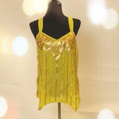 "Spotted while shopping on Poshmark: ""Yellow Sequined Tank""! #poshmark #fashion #shopping #style #XOXO #Tops"