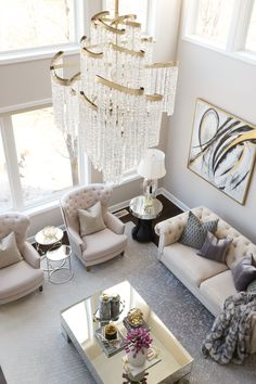 capitollighting Reminiscing to this beautiful moment in living room featuring the stunning Mont Blanc chandelier by ✨. The glamour level is on point here! 🙌🏻 If you love glam decor that means you're probably a big fan of t Ux Design, Deco Design, Home Design, Retro Home Decor, Home Decor Items, Cheap Home Decor, Diy Home Decor, Bold Living Room, Living Room Goals
